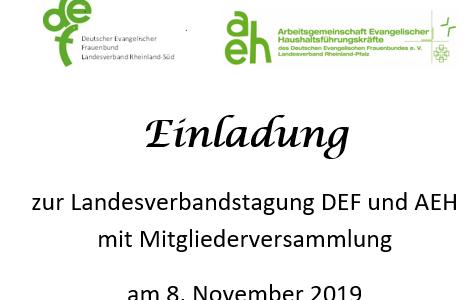 Einladung zur Mitgliederversammlung am 08.11.2019
